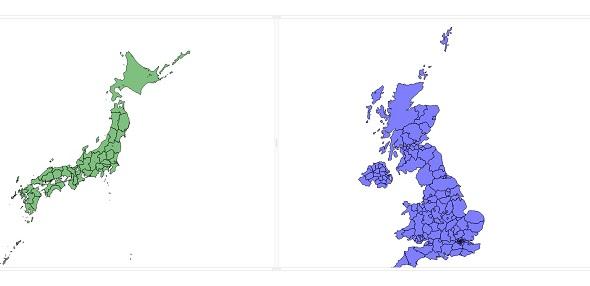 webix + D3 Responsive Map