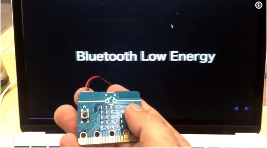 Web Bluetooth API + reveal.js