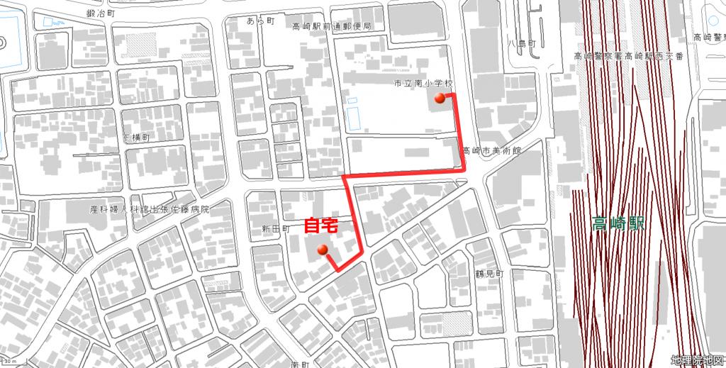 通学路地図作成サンプル